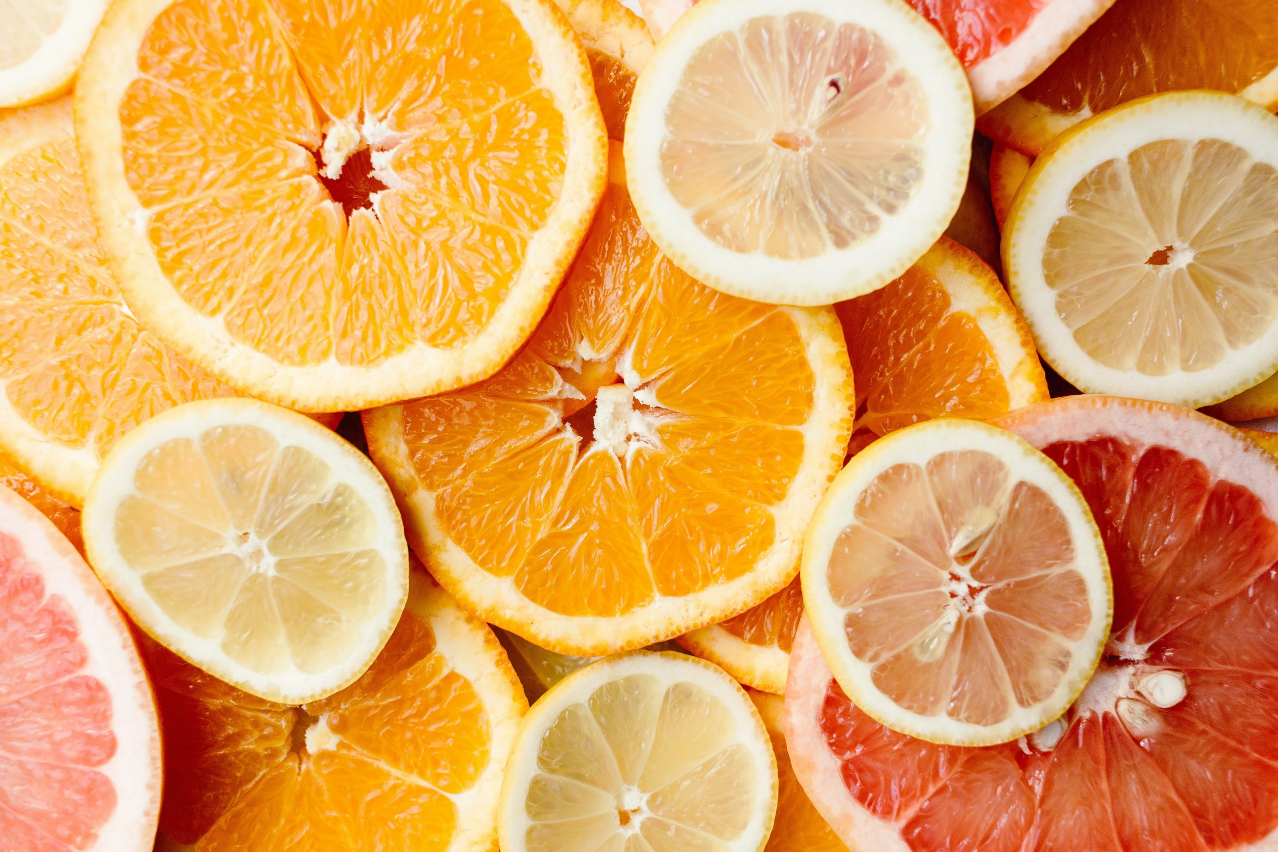 bunch of sliced citric fruits